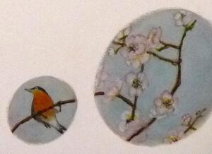 Décor réalisé par l'Atelier Polychromies de Sandrine Rongier à Saint Léonard de Noblat, peintre en décor du patrimoine
