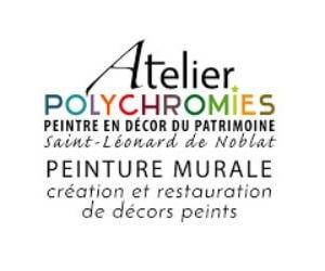 Logo de l'Atelier Polychromies - Sandrine Rongier - Peintre en décor du patrimoine à Saint Léonard de Noblat
