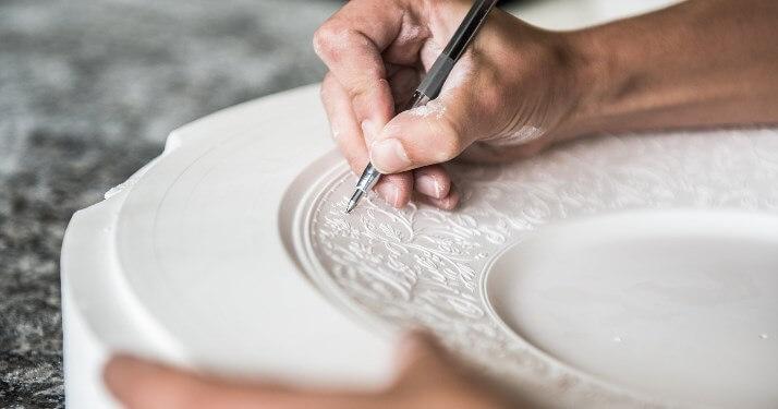 Porcelaine de Limoges des ateliers JL Coquet - Crédit photo : JL Coquet