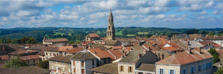 Saint-Léonard de Noblat, vue aérienne